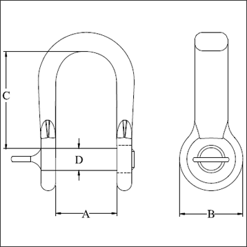 D-SHACKLE SEMI ROUND TYPE-diagram
