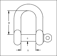 STANDARD D SHACKLE-diagram